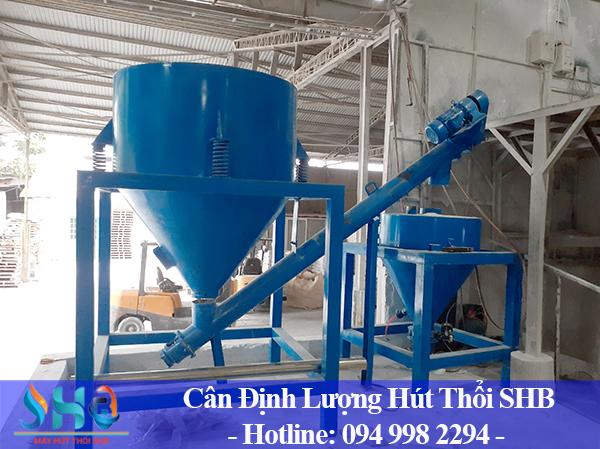 Lắp đặt cân định lượng kết hợp máy hút thổi phụ gia tại Phú Thọ